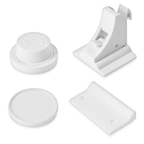 Navaris Unsichtbare Magnet Schrank Kindersicherung - 10 Schlösser 2 Schlüssel - Magnetische Kinder Sicherung für Schränke Schubladen Kommoden