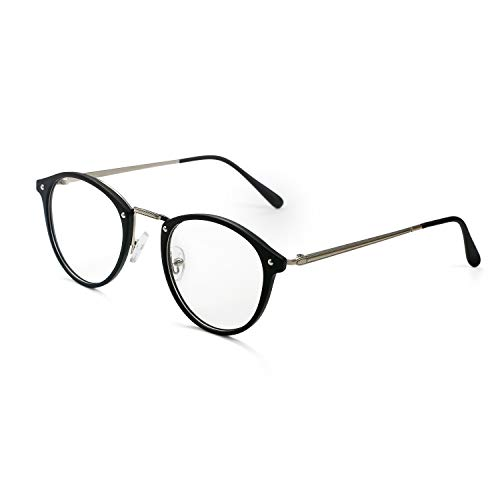 Aroncent Damen Sichtbrille Brillenrahmen transparente Gläser bequem ultraleicht Farbe wählbar Schwarz