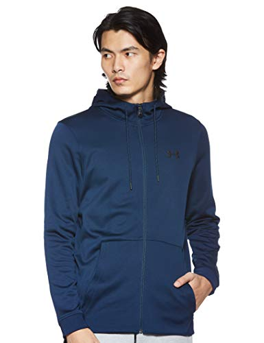 Under Armour Men's Fleece Full Zip Hoodie, Academy Blue (408)/Black, Medium