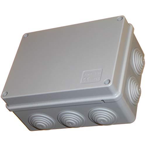 Caja de conexiones de 150 mm con ojales impermeables IP56, carcasa de plástico PVC adaptable, cable de iluminación para exteriores, conexión eléctrica
