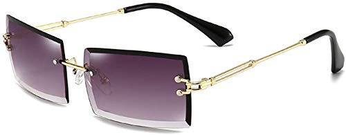 Dollger Gafas de sol rectangulares sin montura para mujer, gafas cuadradas para hombre, ultraligeras, UV400, unisex, color, talla Geeignet für alle Gesichtsformen