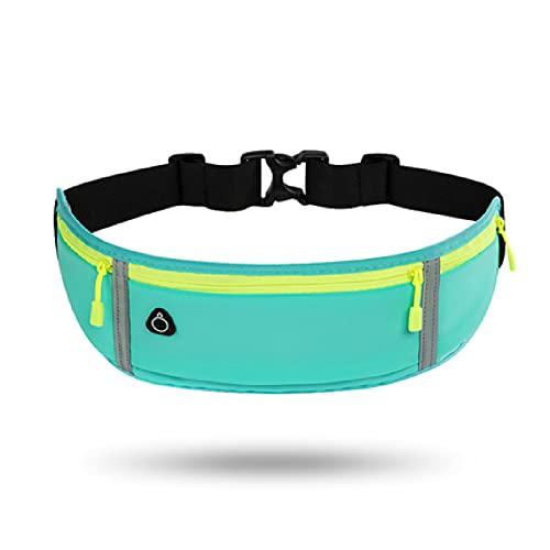 pockets Bolsa De Cintura Deportiva Unisex Mini, Gran Capacidad De Color Multicolor, Ancho De Cintura Ajustable hasta 120 Cm(Color:C)