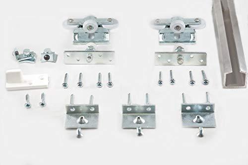 ABO Schiebetürbeschlag-Set mit 200 cm Alu-Laufschiene - Komplettset - Made in Germany - Sehr gute Qualität - Schnelle Lieferung