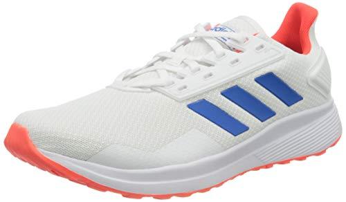Adidas Duramo 9, Zapatillas para Correr Hombre, Blanco (FTWR White/Glory Blue/Solar Red), 40 2/3 EU