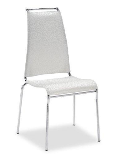 Calligaris AIR HIGH - Sedia imbottita per ristorante e sala da pranzo (seduta imbottita, poliestere, PVC, bianco, schienale imbottito, cloruro di polivinile (PVC), Poliestere, Bianco)