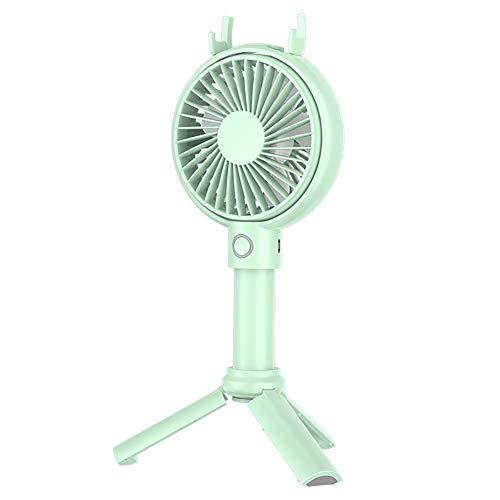 Mini-handheld-ventilator Draagbare oplaadbare ventilator Persoonlijke USB-koelventilator Zomer Desktop-ventilator Wordt geleverd met een statief 3 snelheden voor reisbureau Camping Varen