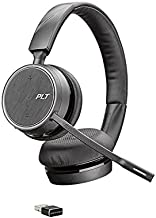 $124 » Plantronics - Voyager 4220 UC USB-A (Poly) - Bluetooth Dual-Ear (Stereo) Headset - Connect to PC, Mac, & Desk Phone - Nois...