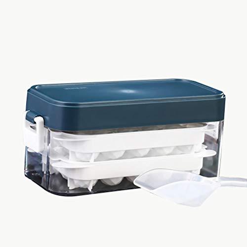 Hidyliu Bandejas para cubitos de hielo con tapas, reutilizables de plástico, para congelador, fácil liberación, whisky, cócteles, bebidas mezcladas
