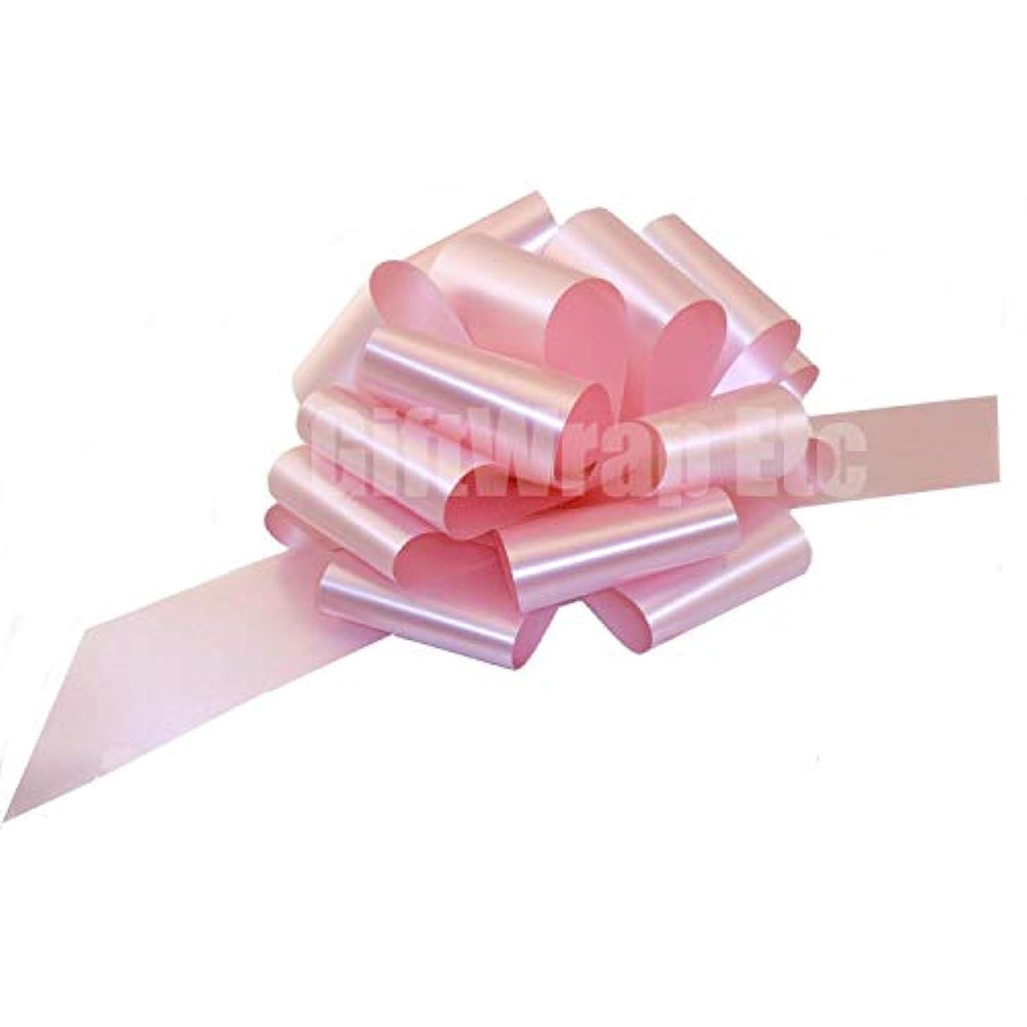 Large Rose Petal Pink Ribbon Pull Bows - 9