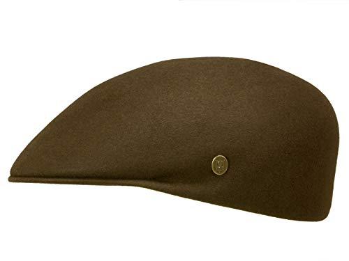 Guerra Furcap Melange Flatcap aus Haarfilz - Braun (118) - 56 cm