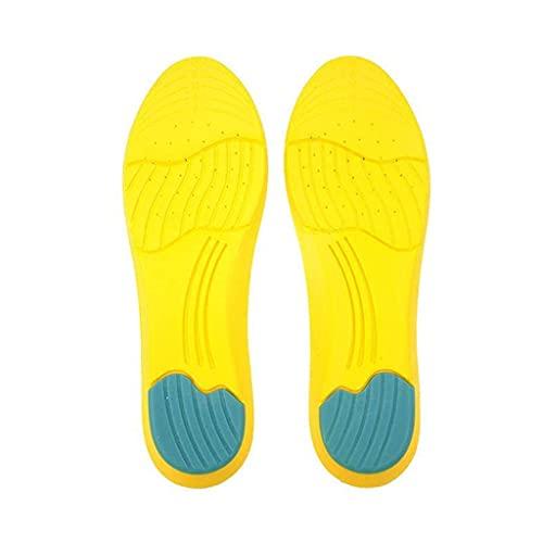 TYUXINSD Suave Memory Espuma Deporte Plantillas Sudor Almohadillas de absorción de Sudor Running Sport Zapatillas Inserciones Pullas Transpirables Cuidado del pie Hombres Tamaño 35-45 (Tamaño: 35-40)