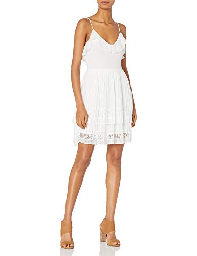 French Connection Women's Adanna Pleat Jersey Dress, Summer White, 4