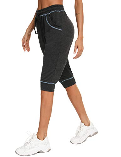 iClosam Pantalones Deportivos Mujer 3/4 PantalóN Chandal AlgodóN Casuals Sweatpants para...
