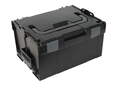 Bosch Sortimo Werkzeugkoffer Systemkoffer L-Boxx 238 / Größe 3 Leer in schwarz, Innovatives Transportsystem, Kompatibel mit allen L-Boxxen