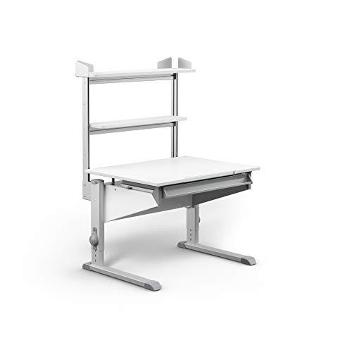 moll Easy Flex Deck CP Kinderschreibtisch Erweiterung, Holz, Weiß, 85,60cm × 10,89cm × 58,50cm