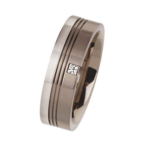 Ernstes Design Ring R94 echt Platin 960 Titan Brill. 0.05 ct. Partnerringe