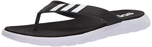 adidas Men's Comfort Flip Flop Slide Sandal, Black, 6 M US