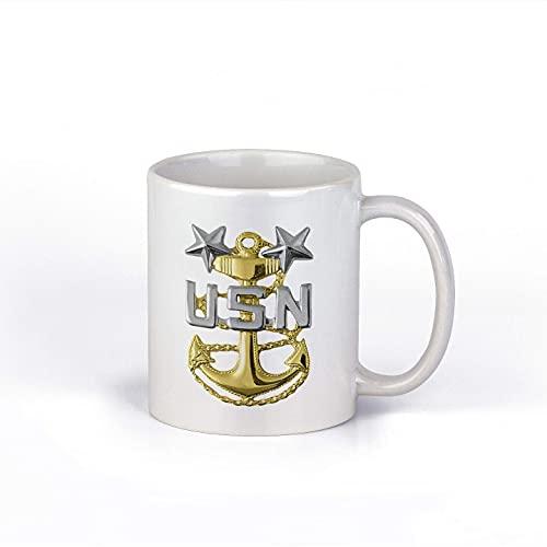 N\A US Navy Master Chief Petty Officer Taza de café de cerámica de 11 oz