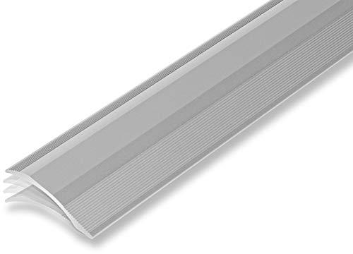 (9,13€/m) Ausgleichsprofil 45 x 900 mm selbstklebend | Übergangsprofil | Rampenprofil | unterschiedliche Höhen | Anpassungsprofil flexibel | - Höhenausgleich von 2-20 mm (900 mm, silber)