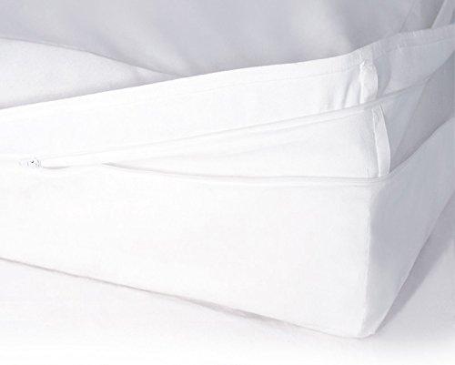 Softsan Protect Plus Matratzenbezug milbendicht 90x190x16 cm, Höhe 16 cm, Encasing, Milbenschutz für Hausstauballergiker milbenkotdicht