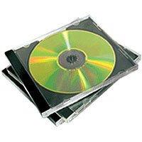 Fellowes 98307 - Pack de 5 Cajas Estuche Dobles para 2 CDs/DVDs, Color Negro