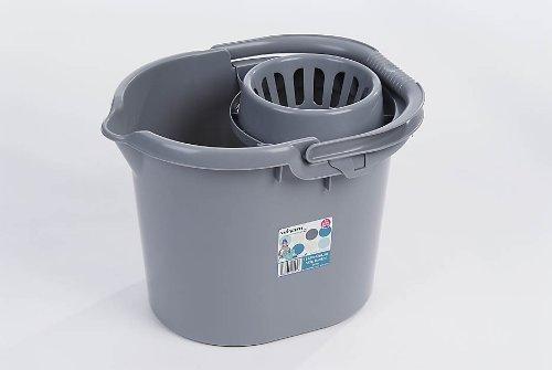 Whatmore 11585 Deluxe – Cubo de Fregar, Color Plateado