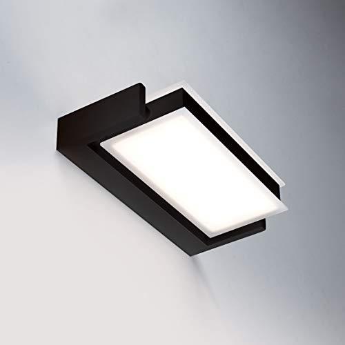 Axella - Aplique LED de 18 W, color negro orientable