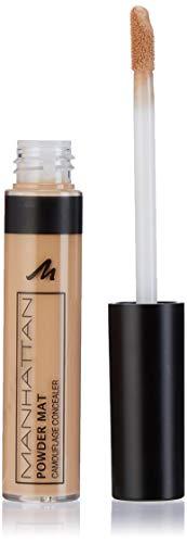 Manhattan Powder Mat Camouflage Concealer 300 Medium, Mattierender Crème, Concealer mit Applikator gegen Augenringe und Hautunreinheiten, 1 x 7ml
