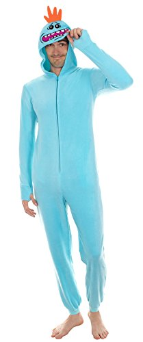RICK AND MORTY Mr. Meeseeks Onesie with Butt Flap (Small) Blue
