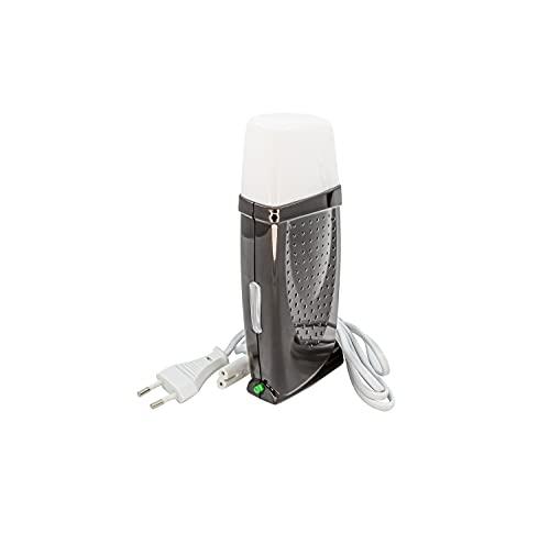 EpilWax - Depiladora Royal 35 W Calentador de cera para cera de depilación profesional 100 ml con bandas de depilación – Dispositivo de depilación calienta cartucho cera recargable (Royal Black)