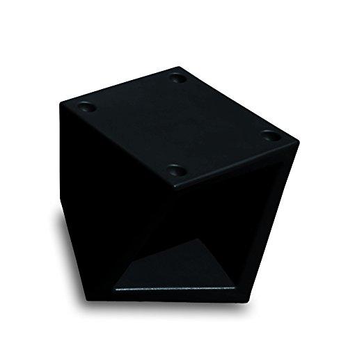 drydesign Cube étagère pouf pouf pouf ottoman, tabouret de chevet, repose-pieds empilable. Twisty Open 45 x 45 x 38,5 cm, couleur noire.