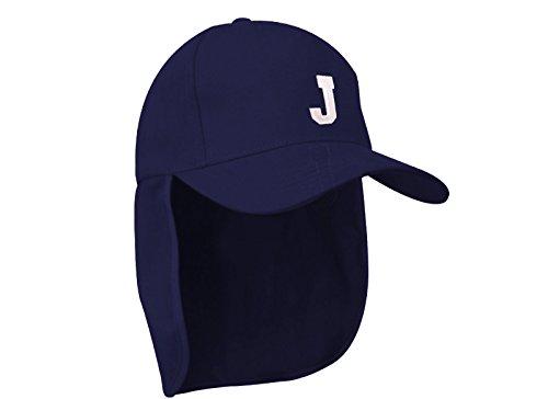 morefaz Junior-Legionär-Stil Jungen Mädchen Mütze Baseball Nackenschutz Sonnenschutz Cap Hut Kinder Kappe A-Z Letter MFAZ Ltd (J)
