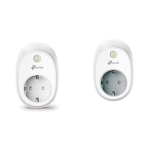 TP-Link HS100 + HS110 - Enchufe Inteligente + inalámbrico con monitorización de energía, para controlar Sus Dispositivos Desde Cualquier Lugar, Funciona con Amazon Alexa, Google Home e IFTTT