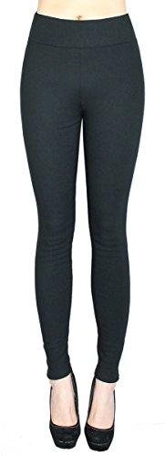 dy_mode Damen Thermo Leggings/Thermo Hose Treggings mit Innenfleece - mit Taschen - Gr. 36 bis 44 - TDH001 (42/XL, TDH002-Schwarz)