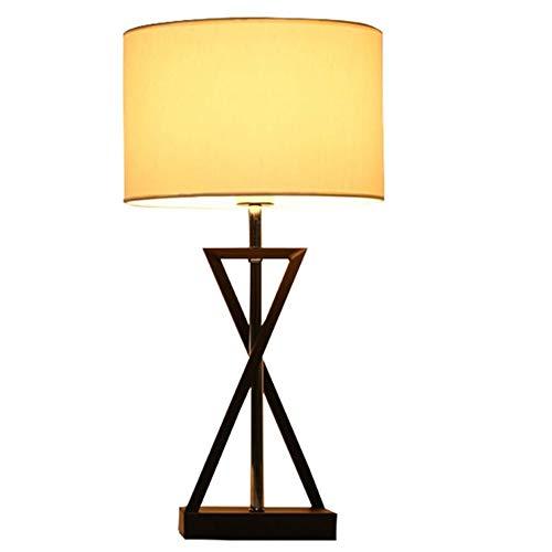 CHNOI País de la Sala de la lámpara estándar Tela Caliente Dormitorio Mesita de luz de la lámpara Forjado Antiguo Hierro Metal Escritorio E27