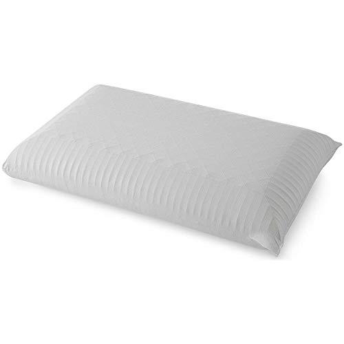 Almohada cervical 70 x 40 x 11 cm de espuma viscoelástica con altura ajustable almohada Memory para dormir de cama funda extraíble lavable