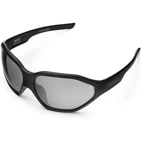 Briko Comet Gafas Sol Ciclismo, Unisex Adulto, Matt Black, One