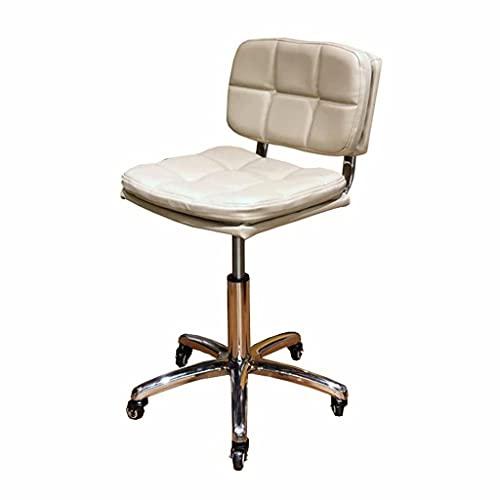 Sillón de Masaje Giratorio El sillón de Trabajo reclinable hidráulico-neumático elevable con Respaldo Acolchado y Ruedas peluquerías y Tatuajes