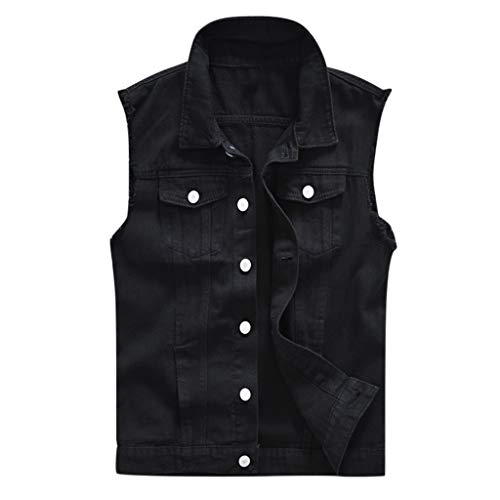 Heren Nieuwe Denim Vest Casual Tank Tops Shirts Cowboy Jas in Schouder Blouse Taille Trainer Vest Hardlopen Tank Top Shirt Fitness Singlet Workout Shirt Quick-Dry Sport T-Shirt