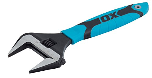 """OX Tools OX-P324610 Llave Inglesa con Boca Extra Ancha, Multicolor, 10"""" (250mm)"""
