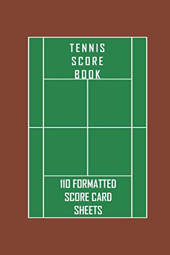 Tennis Score Book. 110 formatted score card sheets.: Portable 6 x 9 (bag sized) tennis score cards to record singles or doubles play. Includes fields ... too. Tennis gift for tennis players.