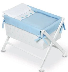 Bimbi Class – Bébé, 68 x 90 x 71 cm, couleur blanc et bleu