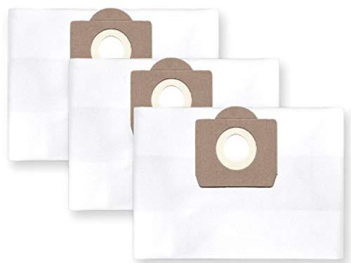 3x Vlies Staubbeutel Filtersack für FEINSTAUB/BAUSTAUB 6-lagig für Nilfisk AERO ALTO 25-21; 25-11; 25; 21-21; 21