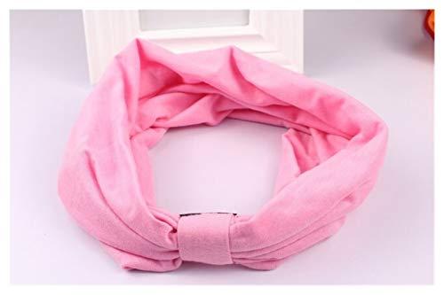 YEYU Yeyaubh. 1 breiter Baumwoll-Stretch-Frauen-Stirnband-Kopftuch-Kopftuch-Kopf-Band-Bandage-Kopf-Band-Kopftuch Elastic Hair Band (Color : P3 pink)