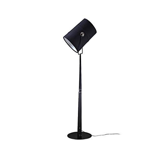 LED Staande lamp-dimbare Living Room Household Verlichting Vertical Light-Multi hoek verstelbare Modern Slaapkamer Kantoor Reading Light DZE (Color : Black, Size : 40cm*135cm)