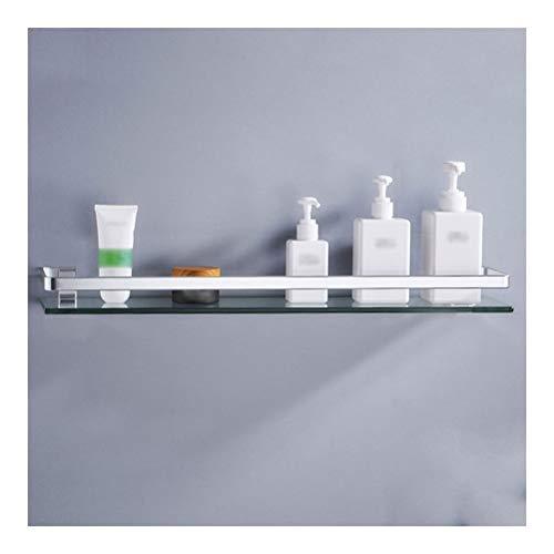 ZhanMaGS Estante de baño de esquina de vidrio templado de 8 mm de grosor, accesorios cuadrados de montaje en pared, acabado anodizado 35 ~ 60 cm 1020 (tamaño: 35 cm)