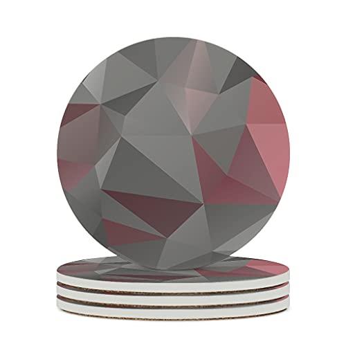 DAMKELLY Store Posavasos de cerámica con forma de cubo de gradiente de primera calidad, retro, 6 unidades, color blanco