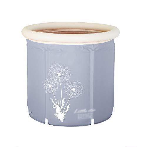 Xiao Mi Guo Ji Faltbare Plastikbadewanne, tragbare, alleinstehende Verdickungsbadewanne für den Haushalt, dampfende Sauna, Dampfbegasungsmaschine, runde Badewanne, Babyschwimmen Tragbare Badewanne
