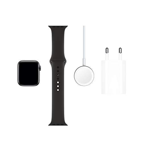 AppleWatch Series5 (GPS, 40 mm) Boîtier en Aluminium GrisSidéral - BraceletSport Noir