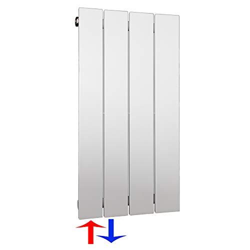 Design Paneelheizkörper Flachheizkörper mit seitlichem Anschluss (196 Watt nach EN442) (600 x 298 (Anschluss links))